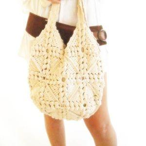 Mexican Crochet Bag Boho Beach Tote